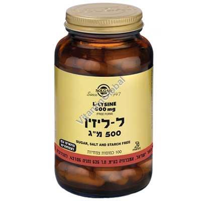 Л-лизин 500 мг 100 капсул - Солгар
