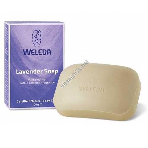 Натуральное лавандовое мыло 100 гр - Веледа