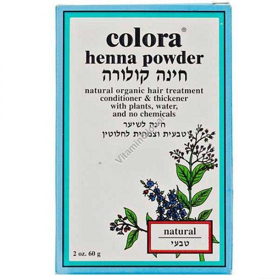 Хна для волос цвет натуральный 60 гр - Colora