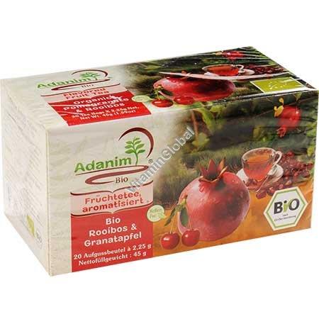 Органический чай гранат и ройбуш 20 пакетиков - Аданим