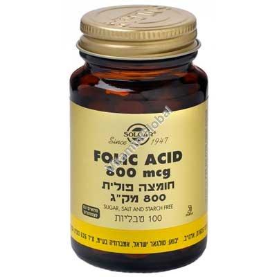 Фолиевая кислота 800 мкг 100 таблеток - Сольгар