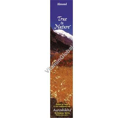 Индийские натуральные благовония миндаль 10 гр (16 палочек) - Auroshikha