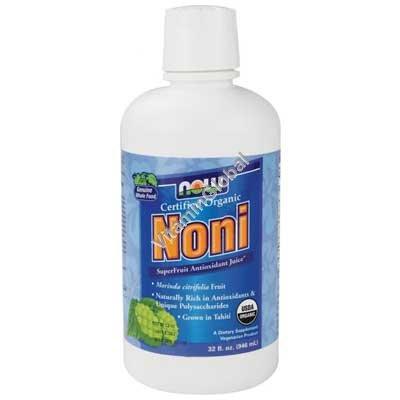 Органический нектар сок Нони 946 мл - Now Foods