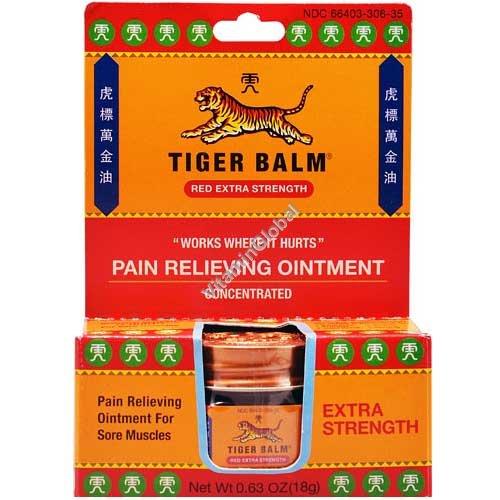 Тигровый бальзам - обезболивающая мазь экстра эффективная 18 гр - Tiger Balm