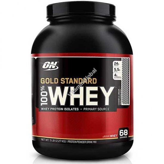 Золотой стандарт - 100% сывороточный протеин со вкусом печенья 2.270 гр - Оптимум Нутришен