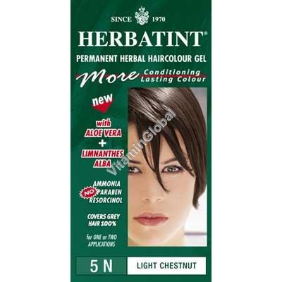 Краска для волос светло-каштановый цвет (5N) - Гербатинт