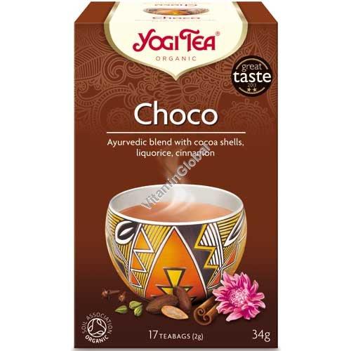 Органический аюрведический чай - шоколад пряность Ацтеков 17 фильтр-пакетиков - Yogi Tea