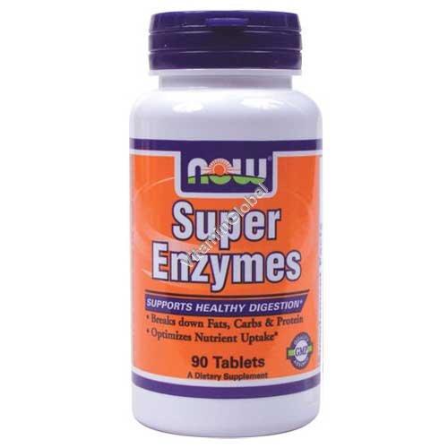 Супер энзимы 90 таблеток - NOW Foods