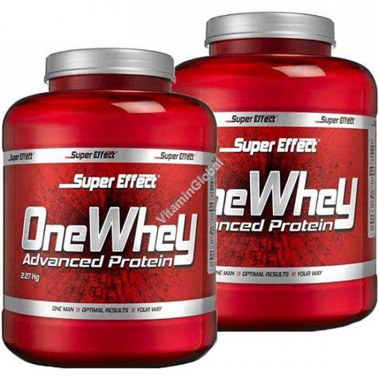Акция! Сывороточный протеин 1+1 (2.27 кг+2.27 кг) + 20 порций креатина в подарок - Super Effect