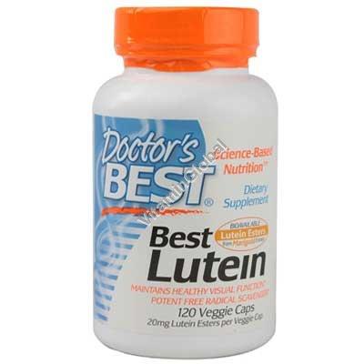 Лютеин 20 мг 120 вегитарианских капсул - Doctor\'s Best