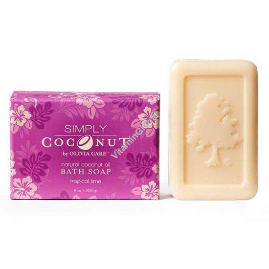 Мыло из кокосового масла с ароматом тропический лайм 226 гр - Olivia Care