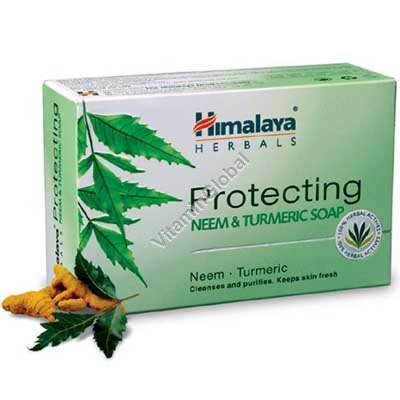 Защищающее мыло с нимом и куркумой для всех типов кожи 70 гр - Himalaya Herbals