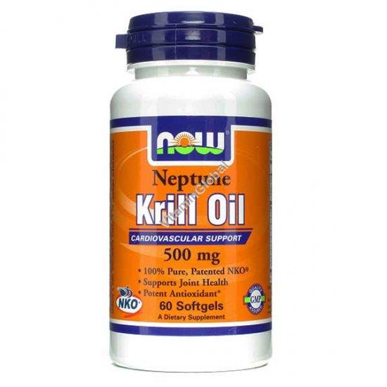 Масло криля 500 мг 60 мягких капсул - Now Foods