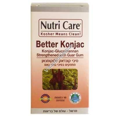 Конжак Глюкоманнан для похудания 90 капсул - Nutri Care