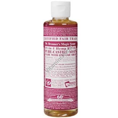 Натуральное жидкое розовое мыло 472 мл - Dr. Bronner