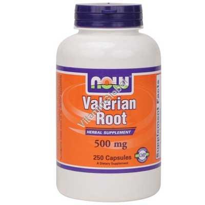 Корень валерианы 500 мг. 250 капсул - NOW Foods