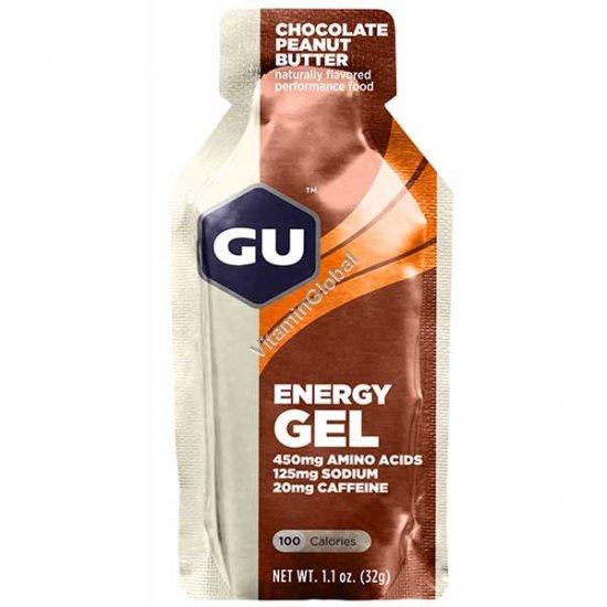 Энергетический гель со вкусом шоколад и арахисовое масло 32 гр - GU