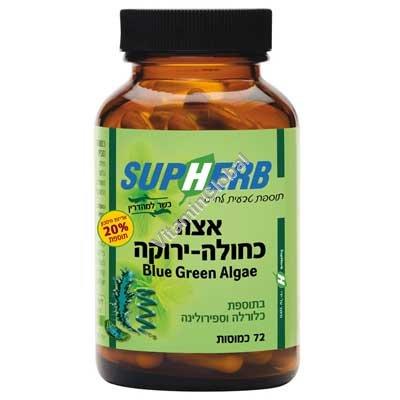 Комплекс сине-зеленых водорослей 72 капсул - SupHerb