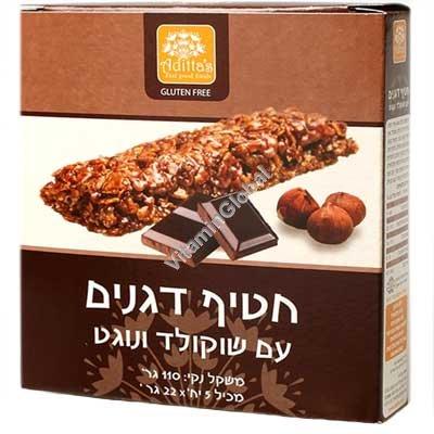 Безглютеновые батончики с вкралениями шоколада 129 гр (6 шт) - Molino Nicoli