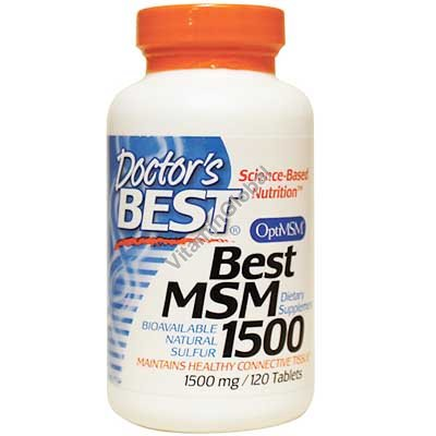 MSM для уменьшения болей в суставах 1500 мг. 120 таб - Doctor\'s Best