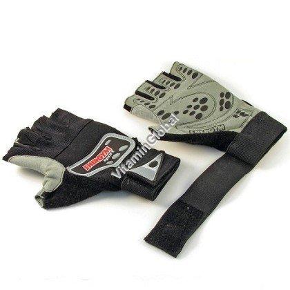 Перчатки для бодибилдинга из кожезаменителя (размер L) - Energym