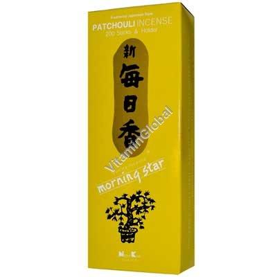 Японские благовония пачули 200 шт (упаковка включает держатель) - Nippon Kodo