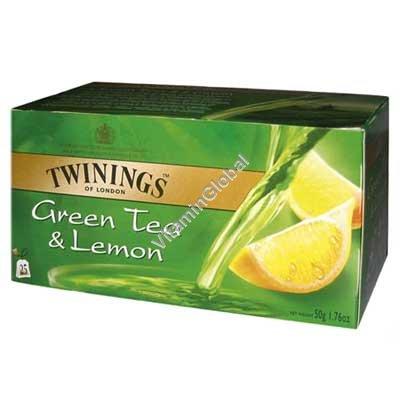 Зеленый чай с лимоном 25 пакетиков - Twinings (Твайнингс)