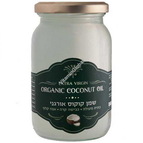 Органическое кокосовое масло холодного отжима 300 мл - Agas