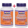 Клюквенный концентрат 200 (100+100) капсул - NOW Foods