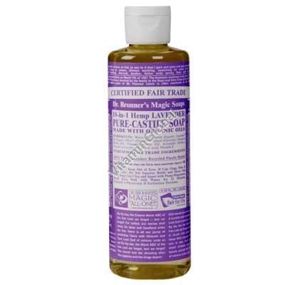 Натуральное жидкое лавандовое мыло 472 мл - Dr. Bronner