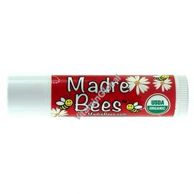Органическая гигиеническая губная помада с гранатовым ароматом 4.25 гр - Madre Bees