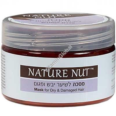 Восстанавливающая маска для сухих и поврежденных волос 250 мл - Nature Nut