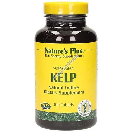 Норвежская водоросль Келп 150 мкг. 300 таблеток - Nature\'s Plus