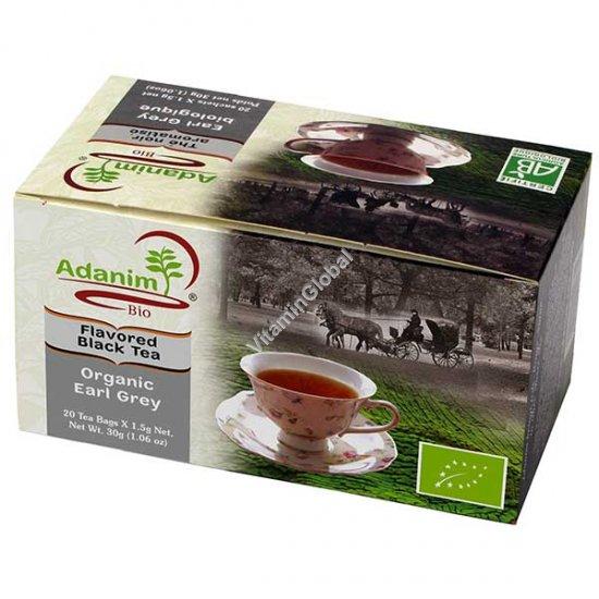 Органический черный чай Эрл Грей 20 фильтр-пакетиков - Adanim