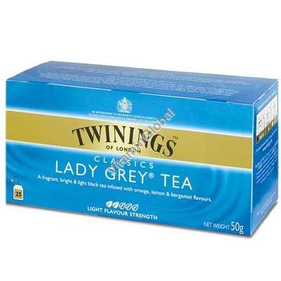 Чай Леди Грей (Lady Grey) 25 пакетиков - Твайнингс