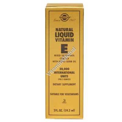 Натуральный витамин Е (жидкий) 59.20 мл - Солгар