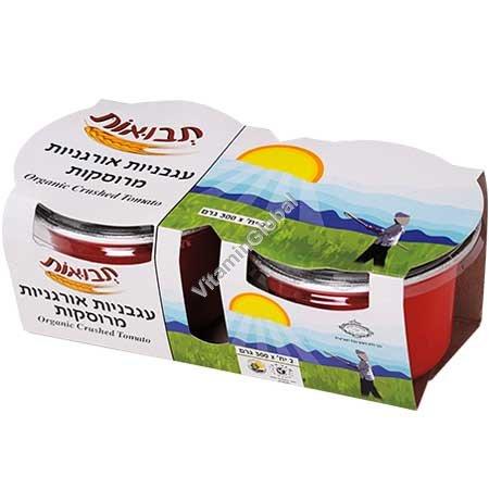 Органические размельченные помидоры 600 (2 Х 300) гр - Tvuot
