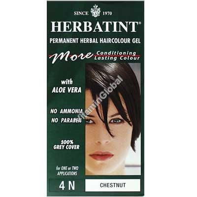 Краска для волос каштановый цвет (4N) - Гербатинт