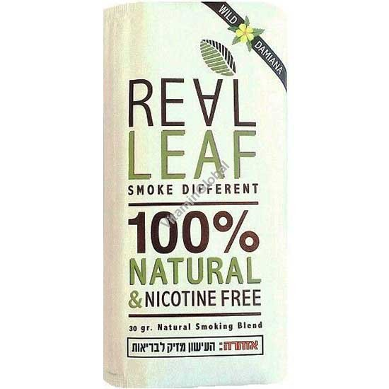 Заменитель табака - травяной сбор с дамианой для курения, без никотина 30 гр - Real Leaf