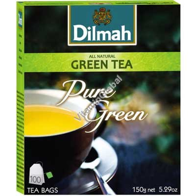 Натуральный зеленый чай 100 пакетиков - Dilmah