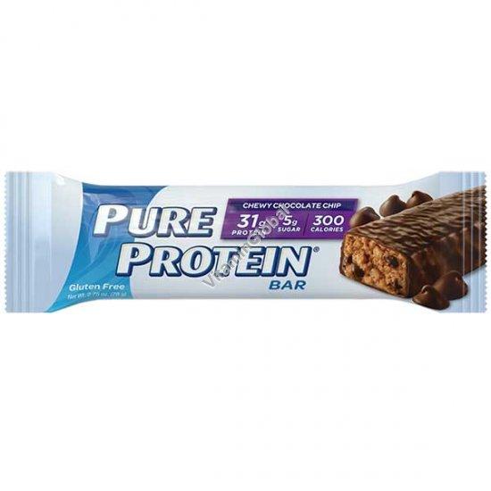 Протеиновый безглютеновый батончик шоколадый чипс 78 гр - Worldwide