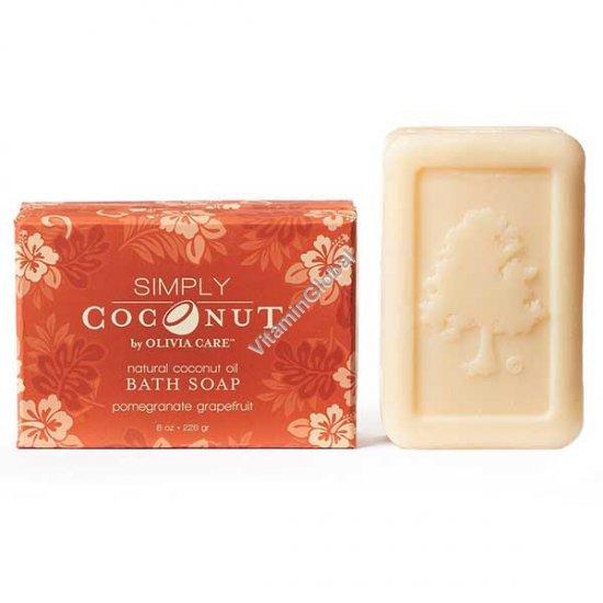 Мыло из кокосового масла с ароматом граната и грейпфрута 226 гр - Olivia Care
