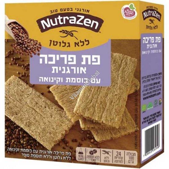 Органические безглютеновые хлебцы с гречкой и киноа 100 гр - NutraZen