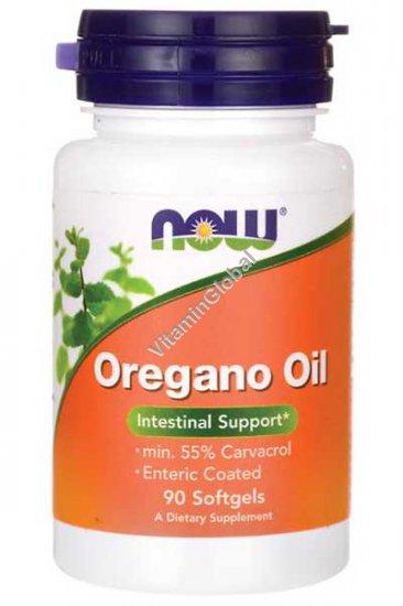 Масло орегано - природный антибиотик 90 мягких капсул - Now Foods