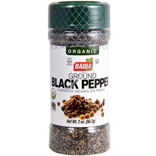Органический молотый черный перец (без глютена) 56.7 гр - Badia