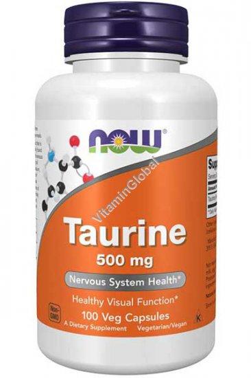 Таурин 500 мг 100 растительных капсул - Now Foods