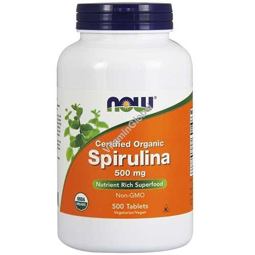 Органическая спирулина 500 мг 500 таблеток - NOW Foods