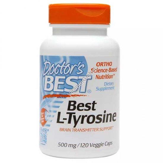 Л-Тирозин 500 мг 120 вегетарианских капсул - Doctor\'s Best