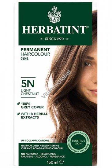 Краска для волос светло-каштановый цвет 5N - Гербатинт