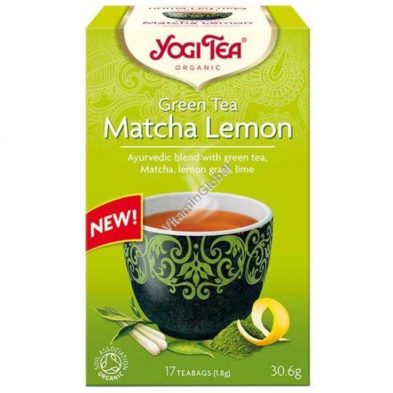 Органический зеленый чай матча и лимон 17 фильтр-пакетиков - Йоги Ти